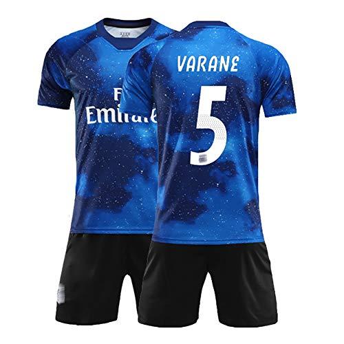 Sommer Fußballanzug für Ramos 4 Varane 5 Kroos 8, Kinder- und Herrenfußballuniformen, Trainingsuniform, kann wiederholt gewaschen Werden, das Beste Geschenk-No5-28