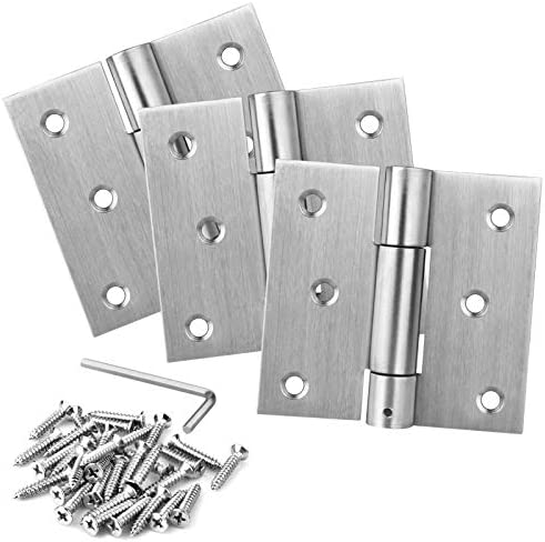 3 Packs 3 Self Closing Door Hinges 201 Stainless Steel Heavy Duty Spring Hinges Automatic Closing product image