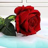 Rose De Velours Simulée, Fausse Fleur De Décoration De Mariage, Fleur De Rose De Velours Rouge
