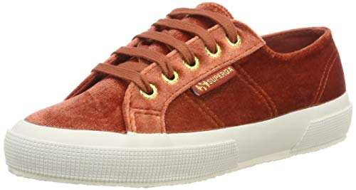 Superga Damen 2750-VELVETCHENILLEW Gymnastikschuhe, Rot (Red Tabasco 417), 38 EU