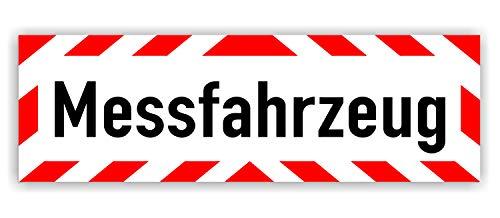 Magnetschild Messfahrzeug   Schild magnetisch   lieferbar in DREI Größen (45 x 15 cm)