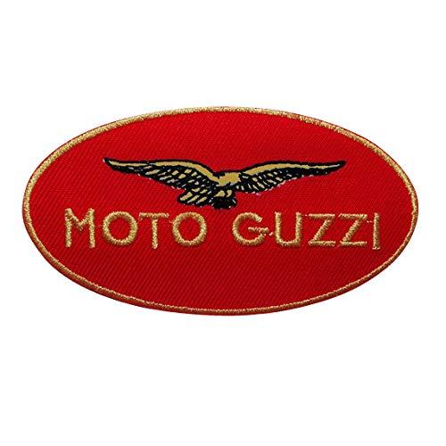 SigitasTrading Moto Guzzi Racer Suit Motorsport Aufnäher Besticktes Patch zum Aufbügeln Applique