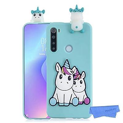HopMore Funda para Xiaomi Redmi Note 8 Silicona Blando Dibujo 3D Divertidas Panda Animal Carcasa TPU Ultrafina Slim Case Antigolpes Caso Protección Cover Design Gracioso - Unicornio Verde