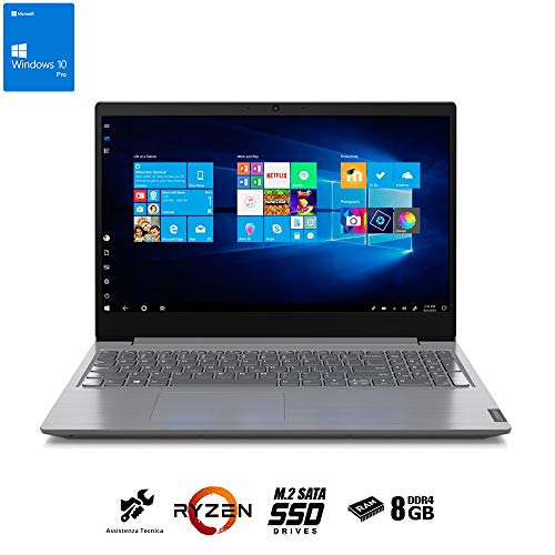Ordenador portátil Lenovo Display de 15,6 pulgadas FHD, Ryzen 3 hasta 3,50 GHz, RAM 8 GB Ddr4 SSd nvme M.2 500 GB, ordenador portátil Lenovo,Hdmi,Webcam,Wi fi,Windows 10 pro + Office 2019