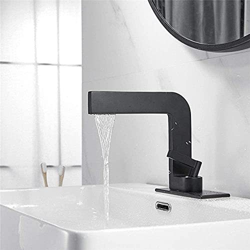 Grifo de lavabo moderno negro grifo mezclador latón cromado grifo fregadero con una sola mano grúa para baño negro China-China_negro