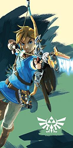 The Legend of Zelda Link Arrow - Toalla de baño (75 x 150 cm, 100 % algodón, calidad de terciopelo, para la playa, la sauna, la breath of the Wild Ocarina Pass)