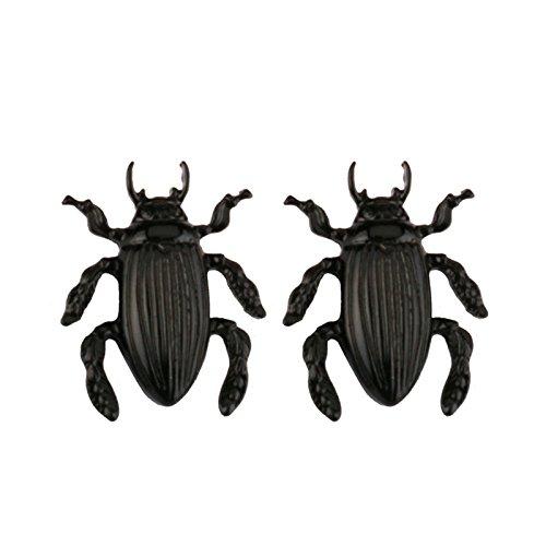 Aeici Negro Pendientes de Moda Mujer Diseño Unico Insecto 30X20Mm