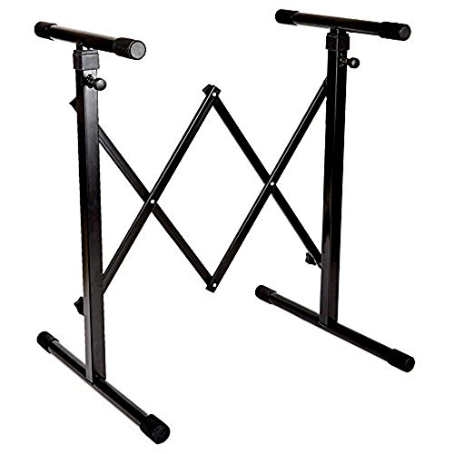Knox Gear Universal Portable Keyboard Stand Accordion Style with Adjustable Width and Height