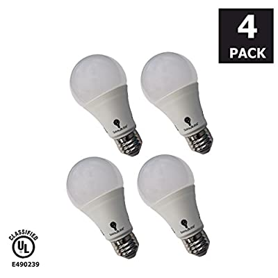 Solray LED  A19 - 60 Watt Equivalent Soft White (2700K) Frosted Light Bulb 800 Lumens, Pack of 4, 6, or 8