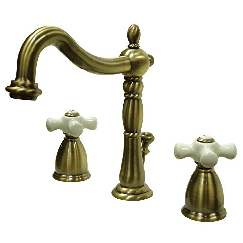 Elements of Design New Orleans EB1973PX Widespread Bathroom Faucet with Retail Pop-Up, 8-Inch to 16-Inch, Vintage Brass