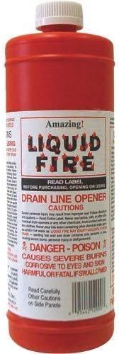 Amazon Com Liquid Fire Drain Line Opener 32 Oz Health Personal Care