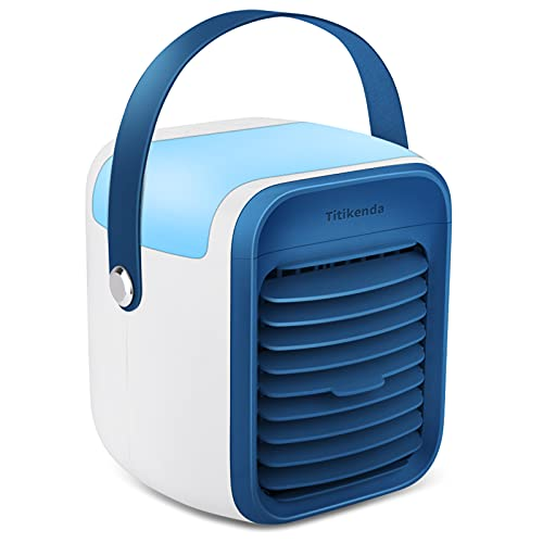 Portable Air Conditioner, Portable Evaporative Cooler, Suitable for Bedside, Office, tent, baby's room and Study Room, misting design, Quick & Easy Way to Cool personal Space, As Seen On TV, Cordless&Rechargeable
