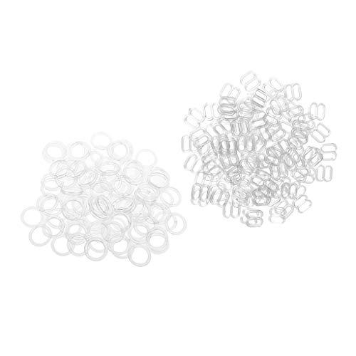 IPOTCH 200 Versteller Bikini & BH -Zubehör zur Reparatur Ringe Haken Slider 8 Form + O Form