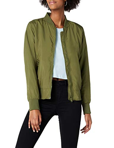 Urban Classics Ladies Light Bomber Jacket Giaca, Verde (Oliva), XS Donna