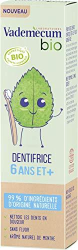 Vademecum - Dentifrice enfant junior 6 ans et + goût menthe, bio - Le tube de 50ml