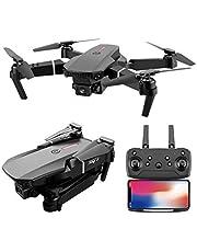 E88 Pro Drone, High-Definition Dual Camera Drone 4K / 1080P / 720P, Hopfällbar WIFI Fpv Drone, 6-Axis Control, 3-nivå hastighetsväxling, GPS-positionering, 360 ° rullande drönare och kameror