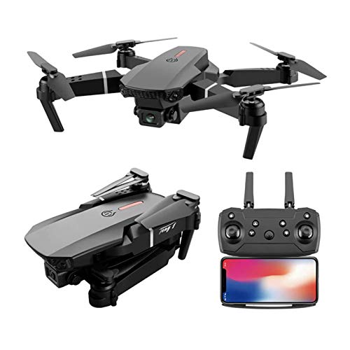 E88 Pro Drone with Camera for Adults, WiFi FPV 1080P 4K HD Dual Camera Drone, Foldable Drone RC Quadcopter with Altitude Hold, Headless Mode, One Key Take Off/Landing