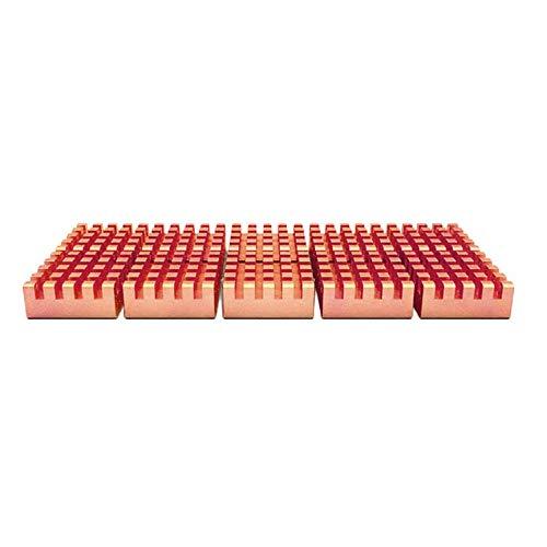 Peanutaoc 8 Stks/Pack PCCOOLER RHS-03 Pure Copper DDR DDR2 DDR3 Memory Heat Sink met Bodem Zelfklevende Tape RAM Radiator Cooler