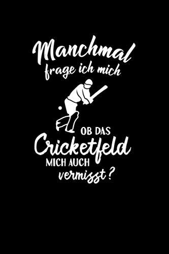 Kricket: Ob Cricket mich vermisst?: Notizbuch / Notizheft für Cricket Bat Kricket Set A5 (6x9in) liniert mit Linien