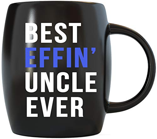 Fathers Day Gifts for World's Coolest Best Effin Uncle Ever Perfect Gift Ideas for Uncles Travel Christmas Birthday Novelty Gag Drinkware Ceramic Coffee Mug Tea Cup by Mug A Day