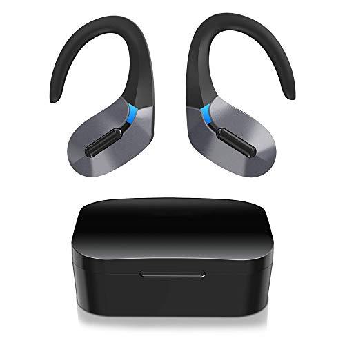 Cuffie Bluetooth Sport, Auricolari Wireless Bluetooth Sport Cuffie Senza Fili Bluetooth 5.0 45 Ore di Riproduzione Auto Pairing Cancellazione di Rumore Siri Stereo TWS con Mic per Chiamate Chiare