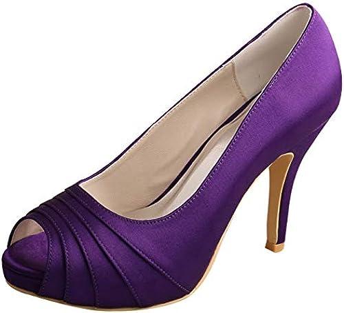 SERAPH MW1491 Damen Pumps Peep Toe Plissee Stiletto High Heel Heel Heel Plattform Hochzeit Schuhe Lila 35-42  ausgezeichnete preise