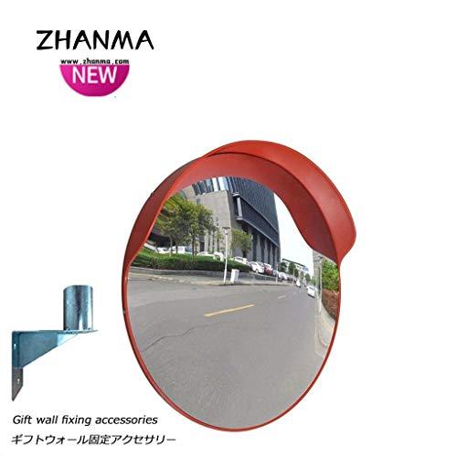 Garagenspiegel- Sicherheit gekrümmter Spiegel, 180 ° Betrachtungswinkel, Straßenverkehr Assitant Sicherheitsspiegel for viele Anwendungen 60cm 80cm, senden Winkelmontage ZhanMaAZ.01.27 (Size : 80cm)