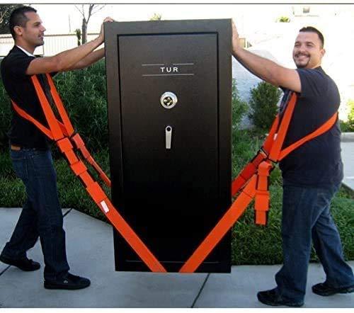 Cintura per sollevamento, facile da spostare, solleva, trasporta e mette in sicurezza complementi d'arredo, apparecchi o qualsiasi oggetto pesante. Cinghie e imbracature per 2 persone