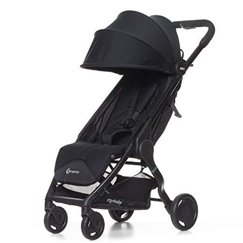 ERGObaby METRO15EU1 Metro Kinderwagen Buggy mit Liegefunktion Modell 2020, ab 6 Monate bis 22kg, Kinder-Buggy Zusammenklappbar Klein Leicht Kompakt, schwarz, 6.3 kg