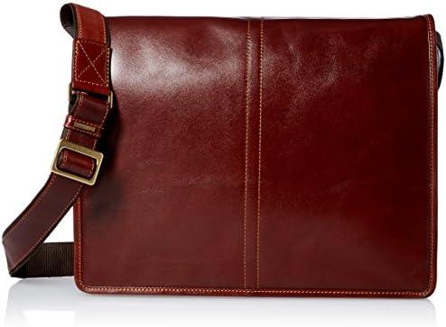 Visconti Vintage-7 Veg Tan Brown Soft Leather Messenger Bag Case, One Size
