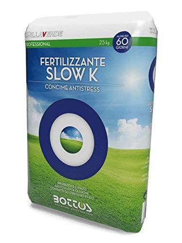Concime Fertilizzante per Prato Bottos Slow K 13-5-20 + 2,5 MgO - 25 Kg