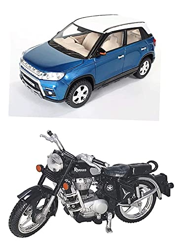 Sheel® Breeza Toy car with Bullet Bike Toy for Kids Best Birthday Gift for Kids Made in India Toy (Colour Assorted, As Per Availability )