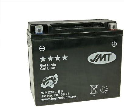 Jmt Gel Jmtx20l Bs Battery For Harley Davidson Xl 1200 C Sportster Custom Build Date 2003 Auto