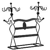 SONGMICS Présentoir à Bijoux, Porte-Bijoux, Organisateur de Bracelets, Colliers, Boucles...