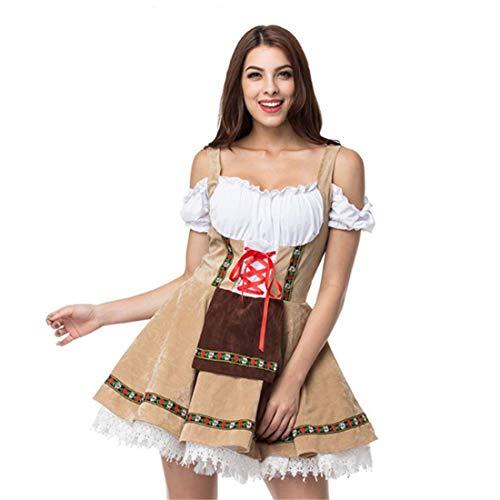 SPFTOY XL Halloween Bier Mädchen Kleid Gestaltung Bühnenkostüm Dienstmädchen Kostüm-S