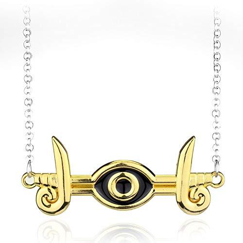 Modeschmuck Anime Yu-Gi-Oh Halskette Millenium Puzzle Yugioh Yugi Ägypten Eye of Horus Anhänger Halskette Für Männer Frauen Geschenke