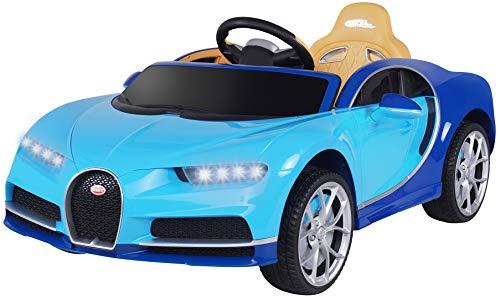 Actionbikes Motors Kinder Elektroauto Bugatti Chiron - Lizenziert - Vollgummireifen - 2,4 Ghz Fernbedienung - Elektro Auto für Kinder ab 3 Jahre (Blau)