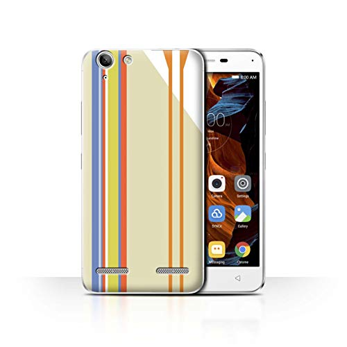 Phone Case for Lenovo Vibe K5 Plus Seaside Fashion Beach Stripes Transparent Clear Ultra Slim Thin Hard Back Cover