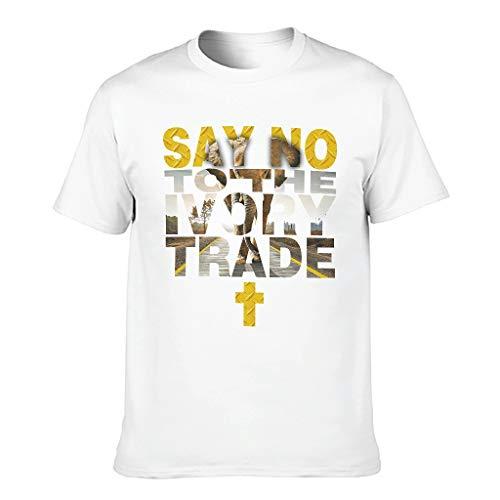 Ouniaodao Elefante No Comercio Camisetas para Hombre Divertidas Sarcasmo Top Wear