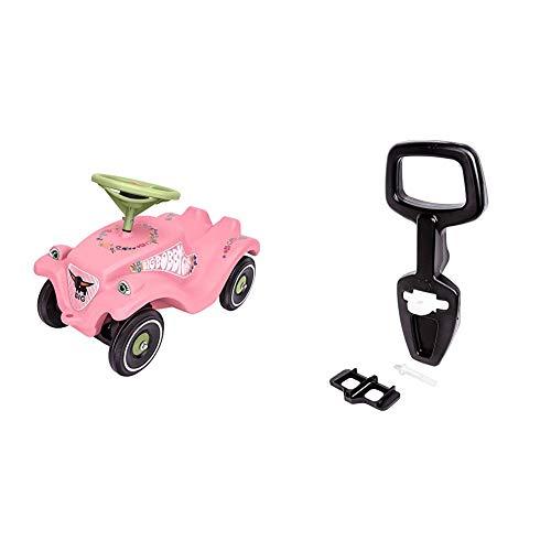 Big-Bobby-Car Classic Flower - Kinderfahrzeug mit Blumenaufklebern für Jungen und Mädchen & Bobby Car Walker - 2-in-1 Lauflernhilfe und Rückenlehne in Einem, mit integriertem Kippschutz