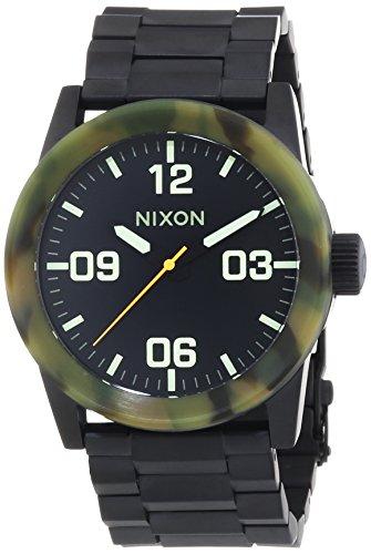 Nixon Private SS Matte Black Camo - Reloj de Cuarzo para Hombre, Correa de Acero Inoxidable Color Negro