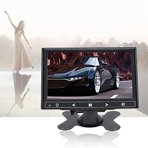 7 pulgadas Portátil Seguridad Monitor, 1024x600 Monitor Entrada AV/VGA/HDMI con Remote Control para Seguridad Cámara Raspberry Pi PC