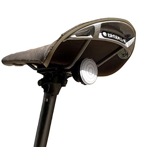 SHANREN Luz Trasera para Bicicleta Inteligente, Recargable magnética, luz Trasera Impermeable para Bicicleta con alertas de Freno/Modo de conducción del Equipo para tija de sillín o Casco