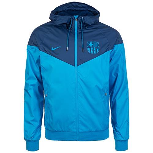 Nike FCB M NSW WR Wvn AUT, Giacca Uomo, Equator Blue/Coastal Blue/Equator Blue, S