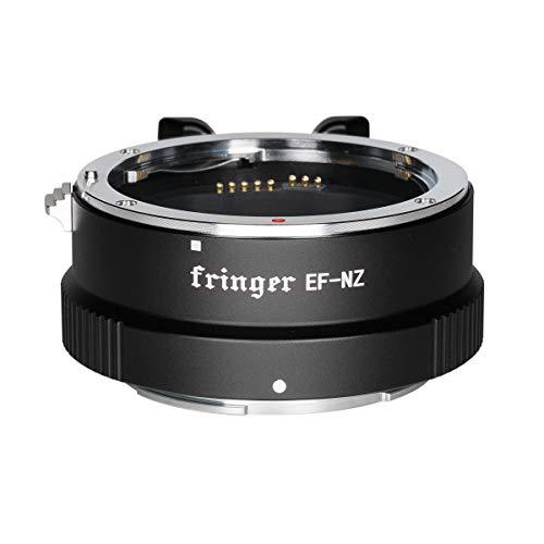 FRINGER FR-NZ1 Anillo adaptador de montura de objetivo automático para Canon EOS EF EF-S a Nikon Z Bayoneta Z6 Z7 Z50, apertura electrónica, PDAF, estabilización de imagen, enfoque automático de vídeo