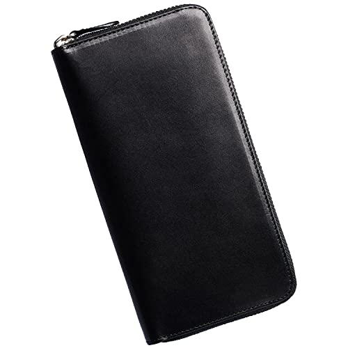 GLEVIO[グレヴィオ] 一流の財布職人が作る 長財布 ラウンドファスナー メンズ財布 父の日 財布