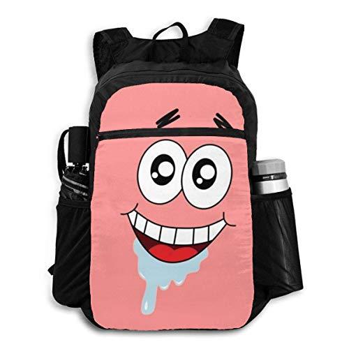 Spongebob Squarepant faltbarer Rucksack, leicht, verstaubar, Mehrzweck-Rucksack, handlich, faltbar, für Camping, Strand, Outdoor, wasserdicht, für Männer und Frauen, Reisen, Wandern, Tagesrucksack