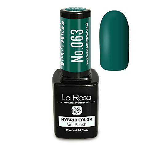 La Rosa UV LED Hybrid Gel Nagellack 10ml - Nr. 063 - dunkles Grün / Smaragd / dunkle Tönung