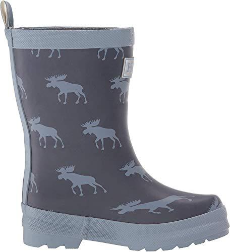 Hatley Jungen Printed Wellington Rain Boots Gummistiefel, Blau (Moose Silhouettes 400), 19 EU