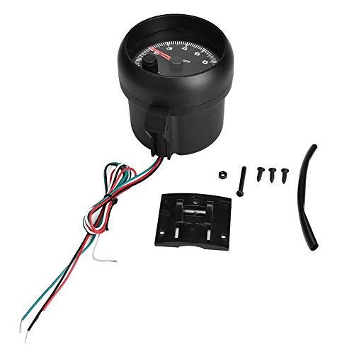 HGY Coche Universal 12V 0-8000 RPM Tacómetro Tacho calibrador del Metro LED Shift Light